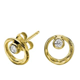 Dower & Hall Rose Gold Plated Crystal Earrings