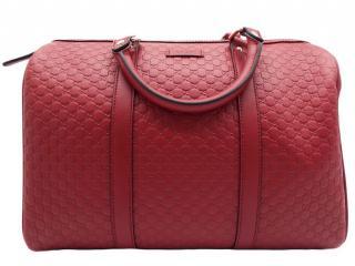 Gucci Red leather guccissima Boston bag