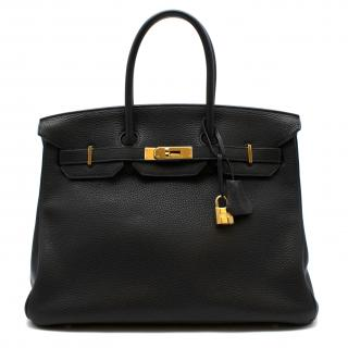 Hermes Black Togo Leather Birkin 35 GHW