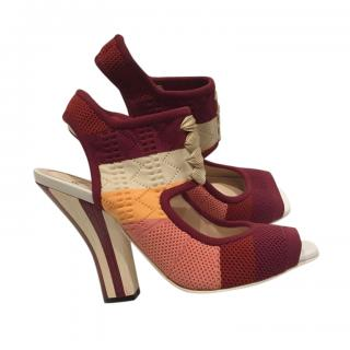 Fendi Colourblock Stretch Sock Sandals