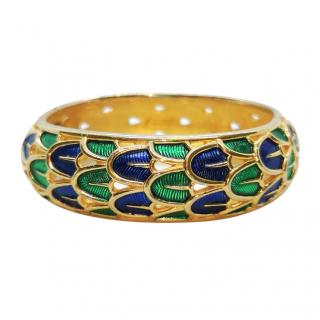 Marcel Boucher Vintage Gold Tone Enamel Bracelet