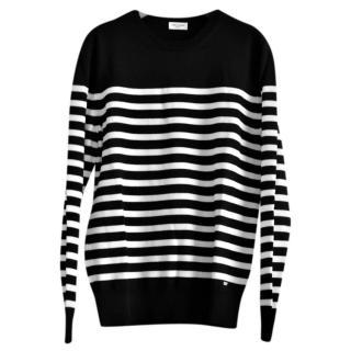Saint Laurent Wool Black & White Striped Jumper