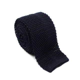 Kilgour Navy Silk Textured Knit Tie