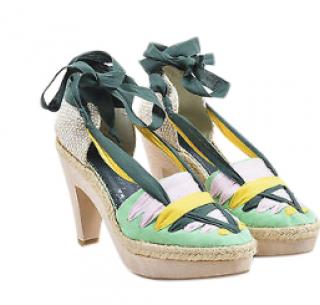 Stella McCartney Ribbon Tie Espadrille Sandals