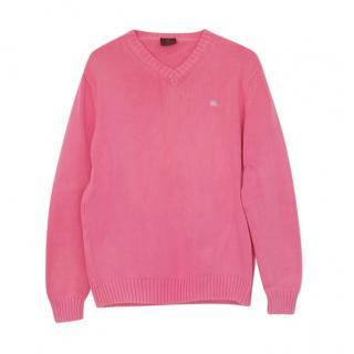 Etro Pink Cotton Knit Jumper