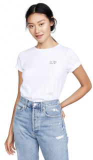Chinti & Parker White Kiss Me T-shirt