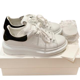 Alexander McQueen White & Black Chunky Sneakers