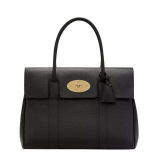 Mulberry Black Small Classic Grain Bayswater Bag