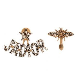 Dior Antique Gold Crystal J'Adior Earrings