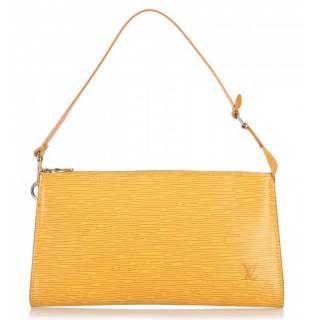 Louis Vuitton Yellow Epi Leather Pochette Accessoires