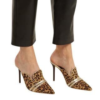 Malone Souliers Leopard Pony Style Calf Hair Hayley Mules