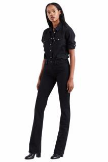 Levi's Black Denim 315 Shaping Bootcut Flared Jeans