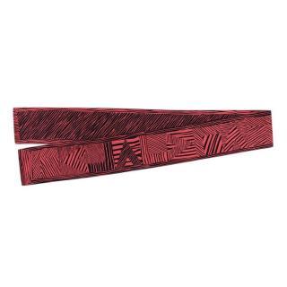 Louis Vuitton Pink & Black LV Zebra Print Silk Bandeau