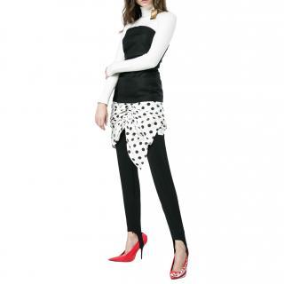 Jacquemus Black/Polka Dot Strapless Mini Dress