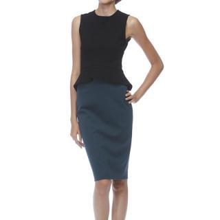 Stella McCartney Two-Tone Peplum Stretch Jersey Dress