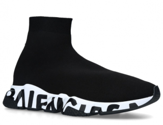 Balenciaga Black Graffiti-Sole Speed Sneakers