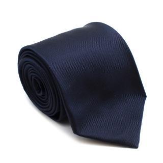 Hackett Navy Silk Logo Handmade Tie