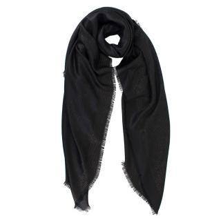 Louis Vuitton Black Dear LV Monogram Shawl