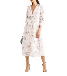 Vilshenko Floral Embroidered Broderie Anglaise Midi Dress