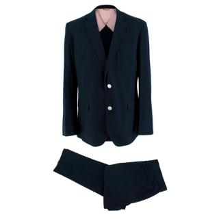 Brooks Brothers Navy Textured 2-Piece Single Breasted Suit