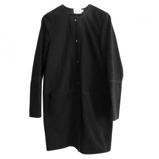 MiH Vintage Black Denim Crombie Coat