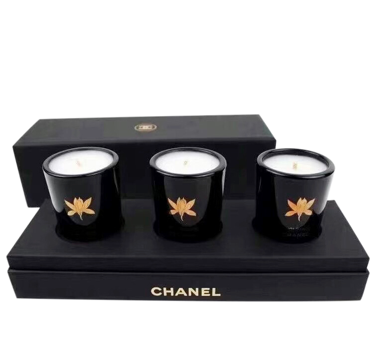 Chanel Black VIP Gift Set of 3 Mini Candles