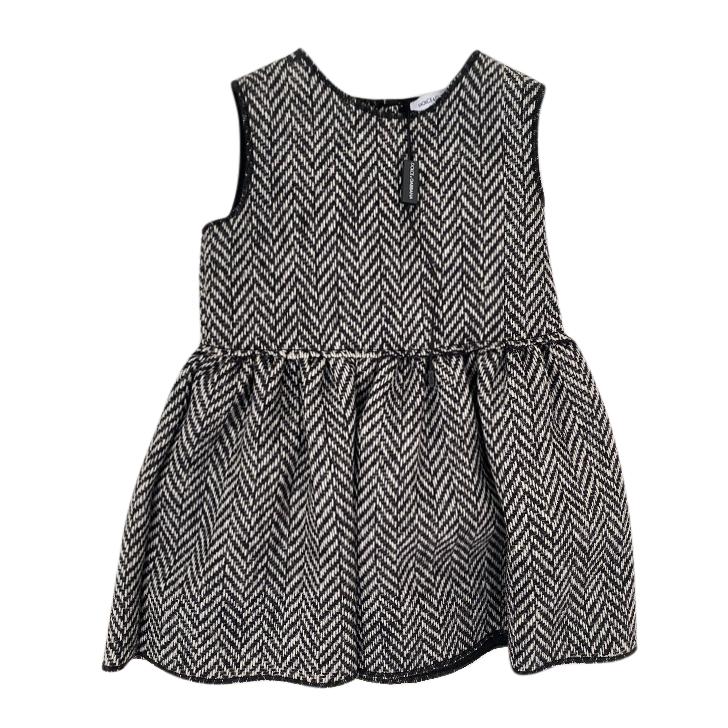 Dolce & Gabbana Herringbone Wool Baby 6-9m Dress