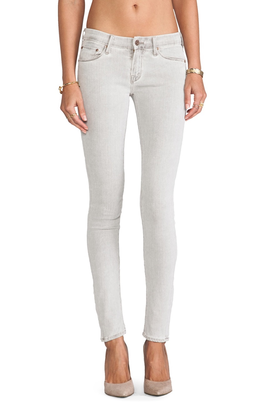 Mother The Looker Grey Skinny Jeans