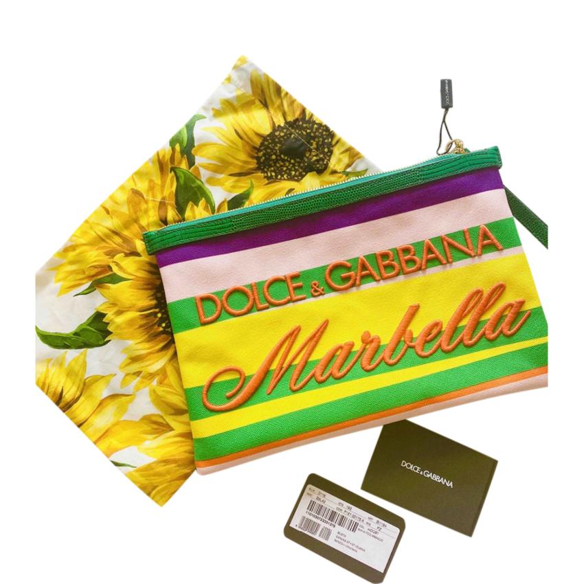 Dolce & Gabbana Marbella Striped Pouch