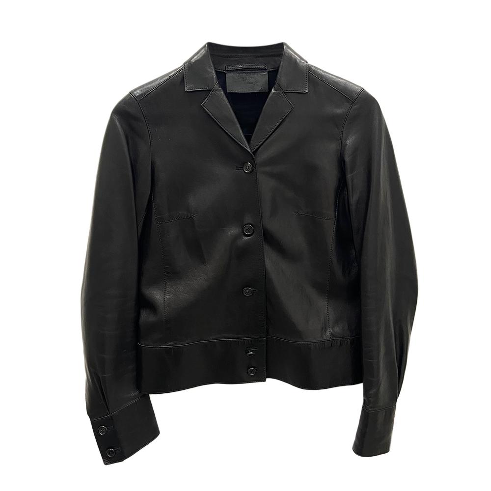 Prada Black Leather Jacket