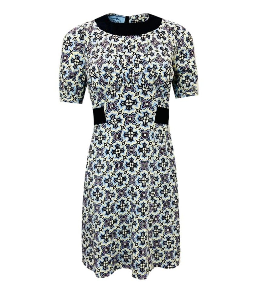 Prada abstract print multicoloured dress