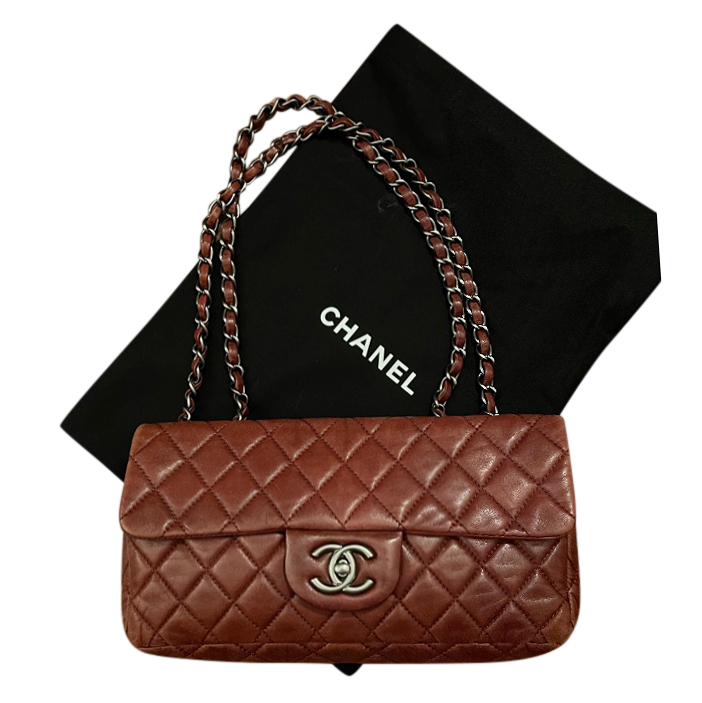Chanel Burgundy Quilted Single Flap Bag