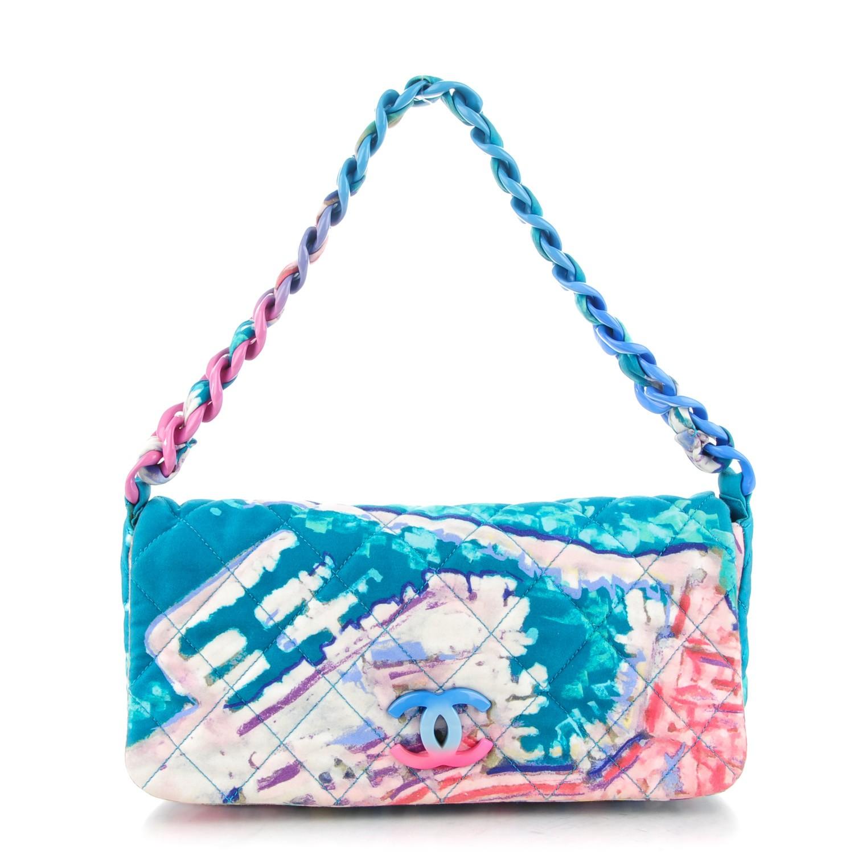 Chanel Watercolour Satin Flap Bag