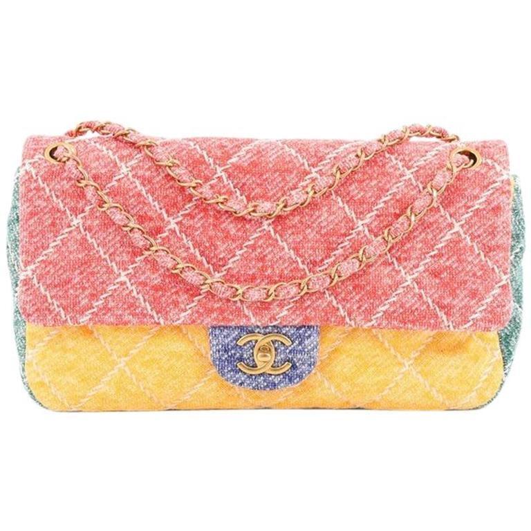 Chanel Ultimate Stitch Colourblock Medium Jersey Flap Bag