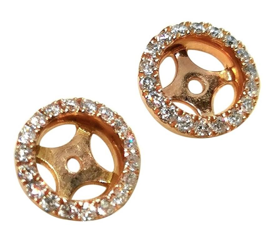 William & Son 18ct Rose Gold Diamond Halos