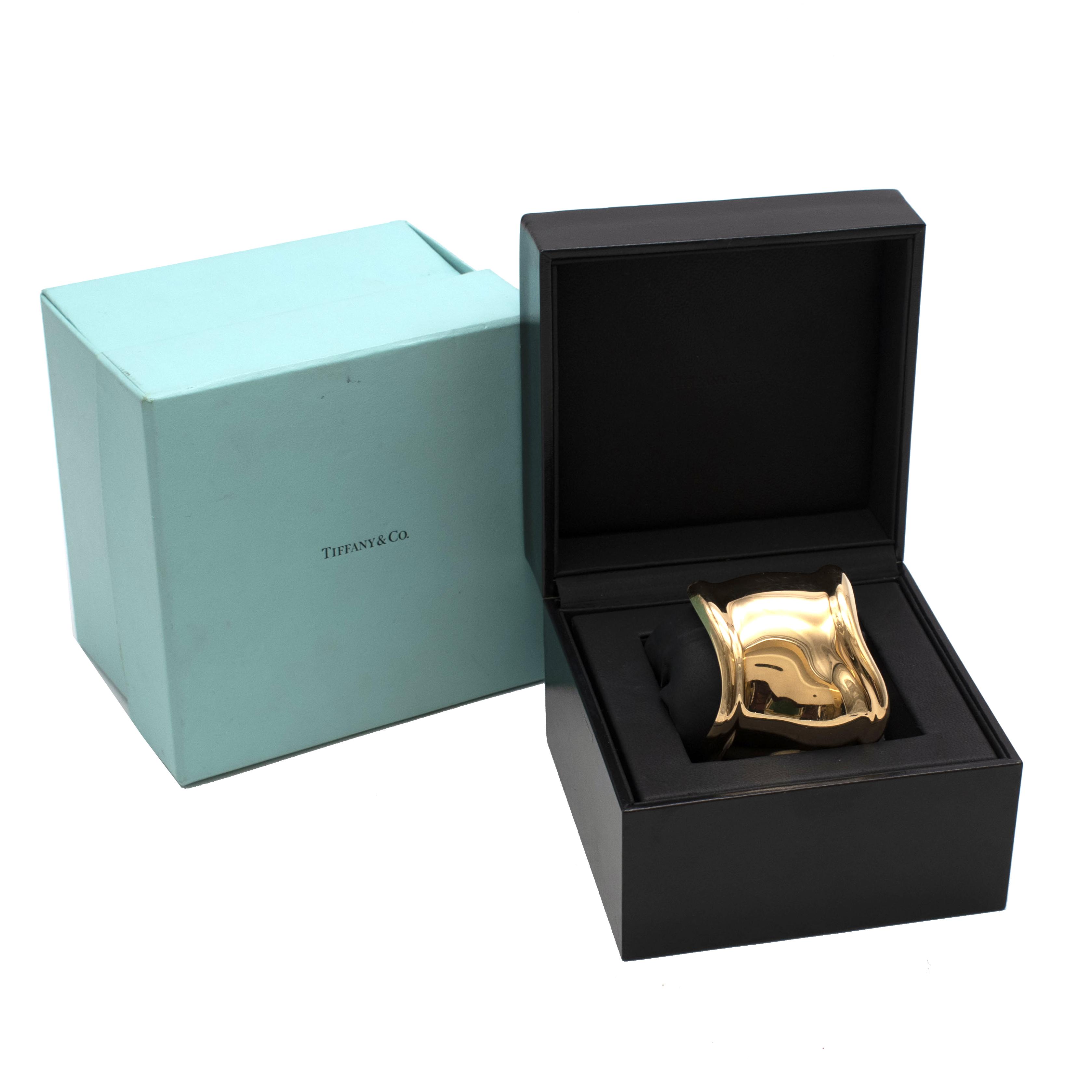 Tiffany & Co By Elsa Peretti 18K Gold Medium Bone Cuff