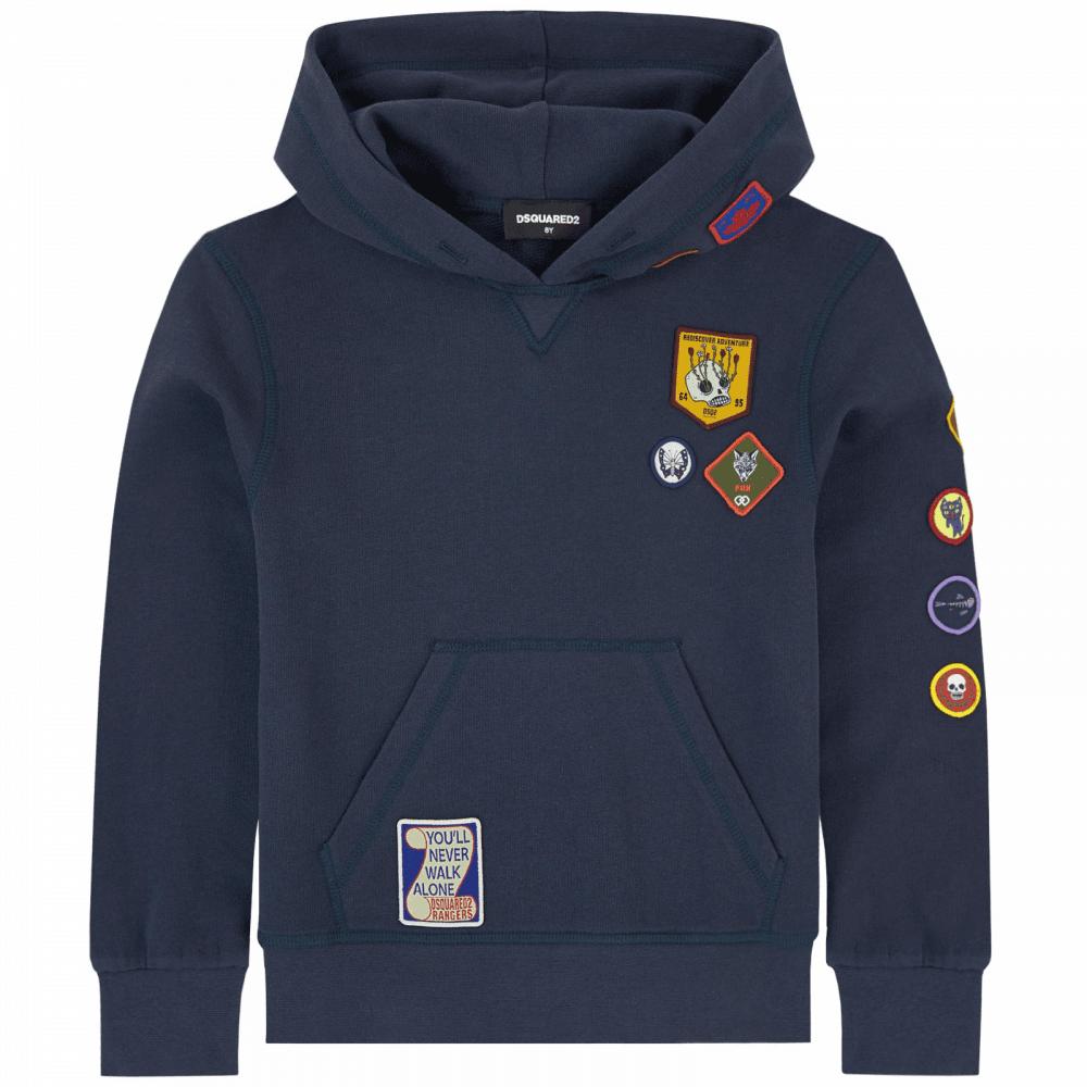 Dsquared2 Dsquared2 Kids Boyscout Hoodie Navy
