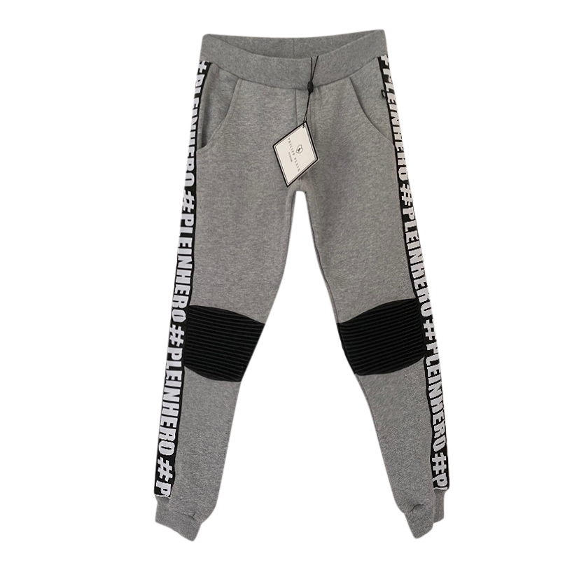 Philipp Plein Kid's 6-7Y Leather Trimmed Joggers