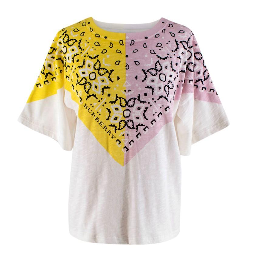Burberry Kids 14Y Bandana Print Cotton T-shirt
