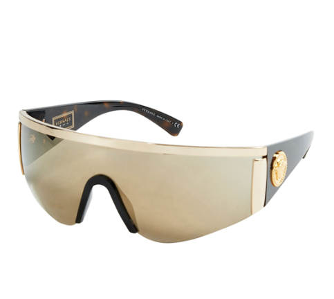 Versace Tribute Gold Sport Aviator Sunglasses
