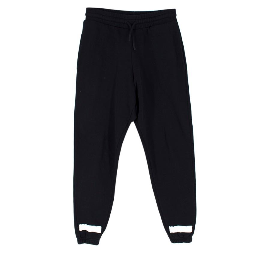 Off-White Black Cotton Graffiti Grid Tracksuit Pants
