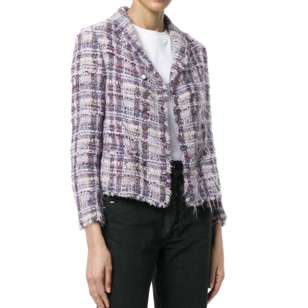 Chanel Purple Eyelash Fantasy Tweed Jacket