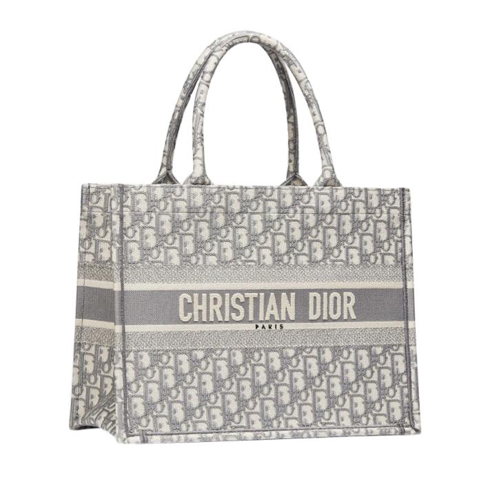 DIOR Grey Oblique Small Dior Book Tote