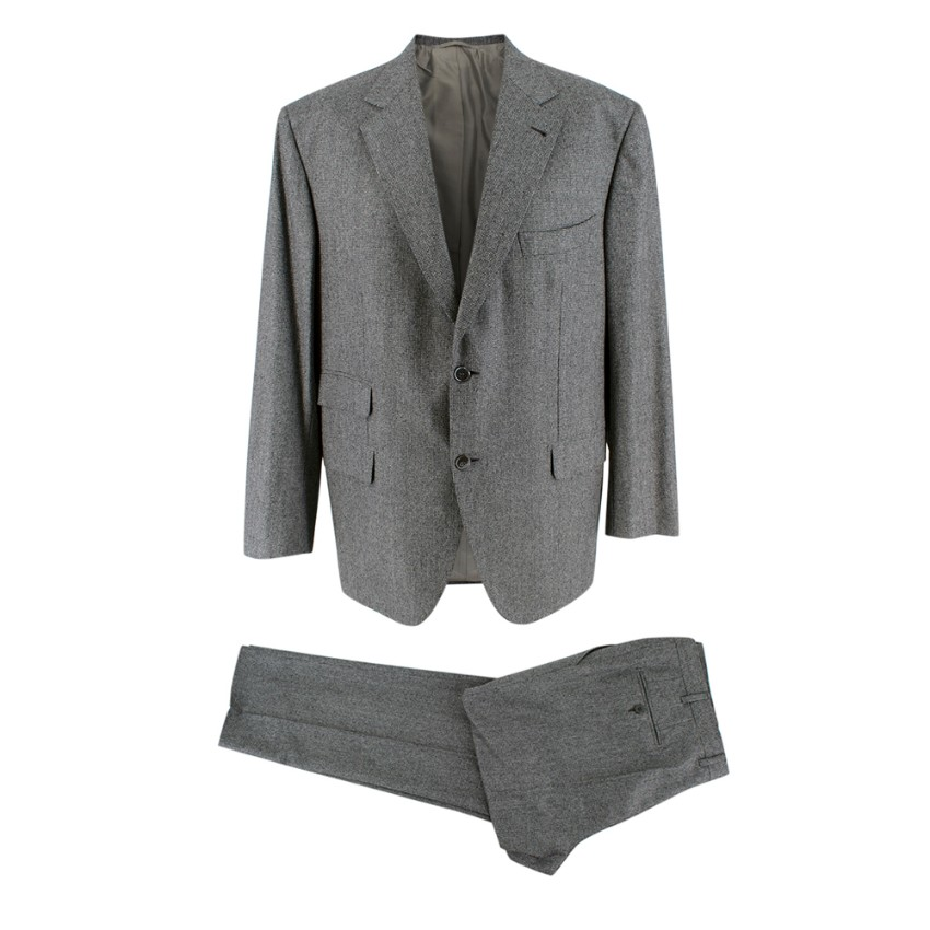 Donato Liguori Grey Cashmere Blend Tailored Suit