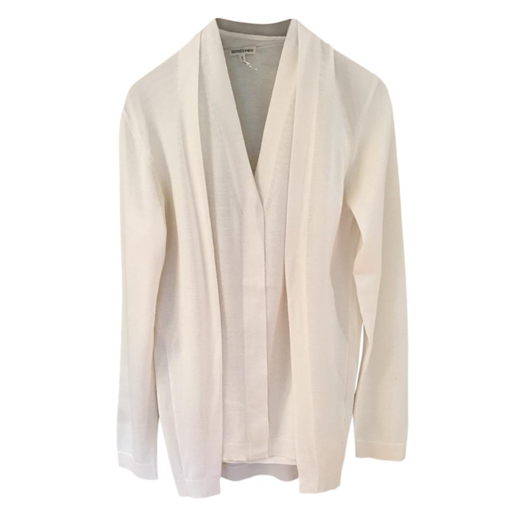 Hermes Cream Silk & Cashmere Twin-Set