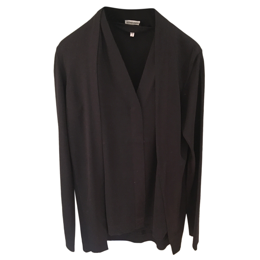 Hermes Black Cashmere & Silk Twin-Set