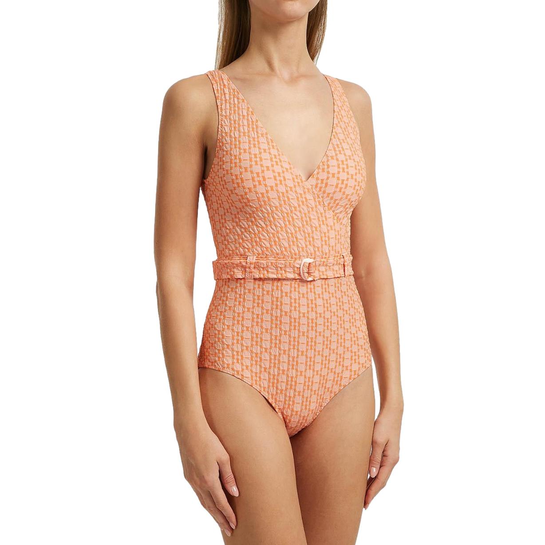 Lisa Marie Fernandez Yasmin Two-Tone Seersucker Swimsuit