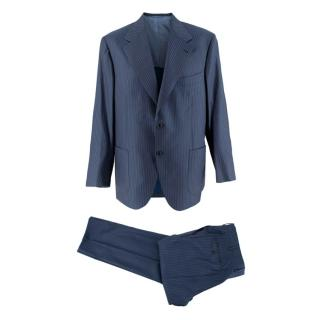 Donato Liguori Grey/Blue Pinstripe Tailored Suit