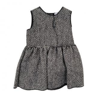 Dolce & Gabbana Herringbone Wool Baby 6-9m Dress