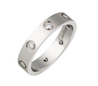 Cartier 18ct White Gold Full Diamond Love Ring